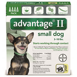 Advantage-II-Small-Dogs-Pups-1-10lbs-Green