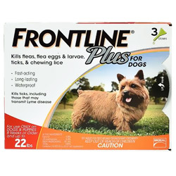 Frontline Plus - Small Dogs Weight:0-22 lbs (Box Color : Orange) 6 Doses