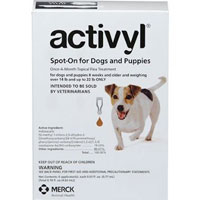 Activyl For Small Dogs 14 Ð 22 lbs Orange 4 Pack