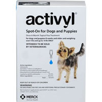 Activyl For Medium Dogs 22 � 44 lbs Blue 4 Pack