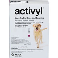 Activyl For Large Dogs 44 � 88 lbs Purple 4 Pack