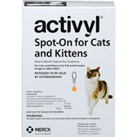 Image of Activyl For Small Cats 2-9 lbs Orange 4 Pack