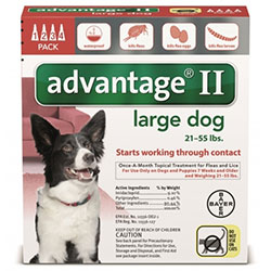 Advantage II Large Dogs 2155lbs Red 4 Pipette