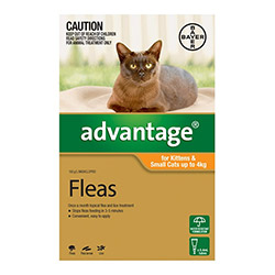 Advantage Kittens Small Cats 110lbs 6 Doses