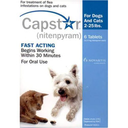 Capstar Blue for Cats and Small Dogs 2 25 lbs 12 Tablet