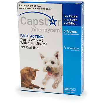 Capstar Cat & Small Dog 11mg 2-25 lbs Blue 6 Tablet