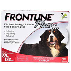 Frontline Plus Extra Large Dogs Weight Above 89 lbs Box Color Red 12 Doses