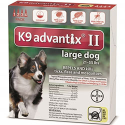K9 Advantix II Large Dogs 2155 lbs Red 6 Pipette