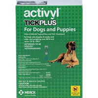 Image of Activyl Tick Plus For Extra Large Dogs 88-136lbs Teal 4 Pack