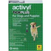 Image of Activyl Tick Plus For Large Dogs 44-88lbs Purple 4 Pack