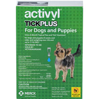 Image of Activyl Tick Plus For Medium Dogs 22-44 lbs Blue 4 Pack