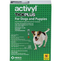 Activyl Tick Plus For Small Dogs 14 � 22 lbs Orange 4 Pack