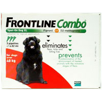 Frontline Plus (Known as Frontline Combo) Extra Large Dogs over 88lbs Red 6 Doses