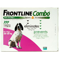 Frontline Plus (Known as Frontline Combo) Large Dog 45-88lbs Purple 3 Doses