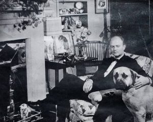 Woodrow Wilson with Dog
