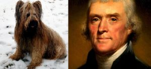 thomas jefferson with buzzy dog