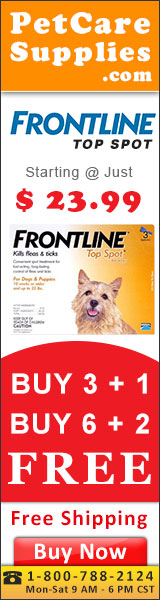 Buy branded Frontline Top Spot Flea & Tick Control treatment for Dogs with free shipping to all over USA. It is a monthly spot-on treatment to remove external parasites like fleas, ticks and chewing lice within the first 48 hours of application.