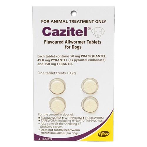 Cazitel Flavoured Allwormer For Dogs 10kg 2 Tablet