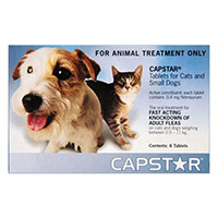 Capstar Cat & Small Dog 11mg 2-25 Lbs Blue 12 Tablet