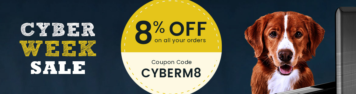 Get 8% DISCOUNT Use Coupon: CYBERM8