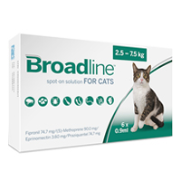 Broadline Spot-On Solution Broadline Spot On for Large Cats 5.5 to 16.5 lbs