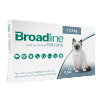 Broadline Spot-On Solution Brodline Spot On for Small Cats up to 5.5 lbs