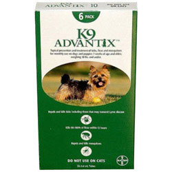 INOpets.com Anything for Pets Parents & Their Pets K9 Advantix Small Dogs/Pups 1-10 lbs (Green) 6 Doses