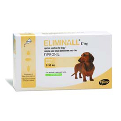 Eliminall Spot-On  for Small Dogs up to 22 lbs. (Yellow)
