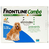 INOpets.com Anything for Pets Parents & Their Pets Frontline Plus (Known as Frontline Combo) Medium Dogs 6 Doses